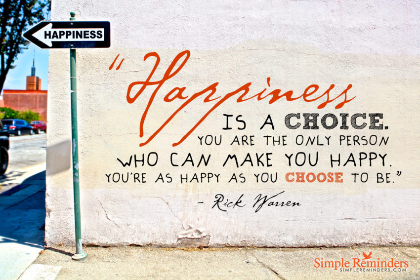Finding Happiness No Matter What Happens  Rick Warren Quote On Happiness  By Simple Reminders