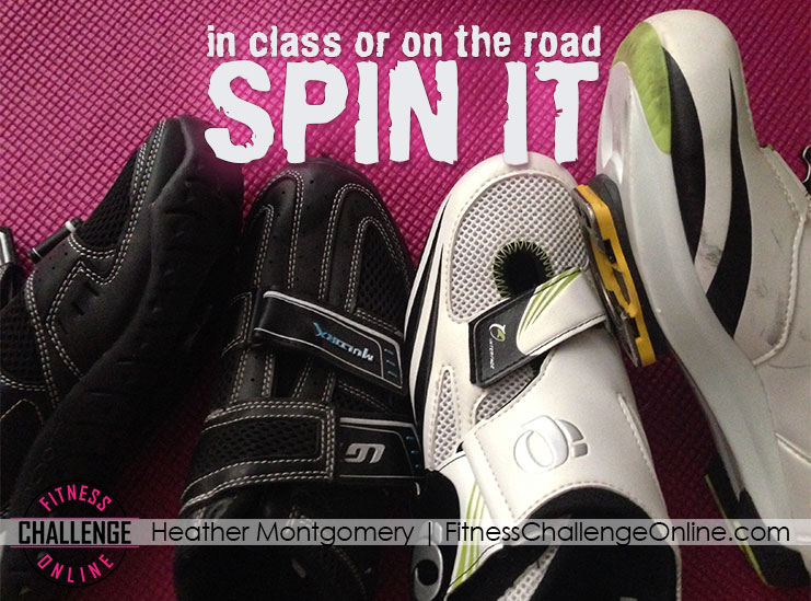 Spin class work out fitness challenge - Heather Montgomery