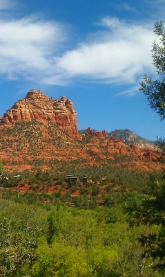 Red rock in sedona arizona a great place to read a book
