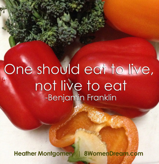 One should eat to live, not live to eat - taking photos of your food for fitness