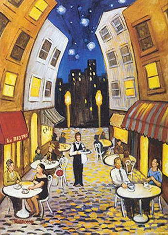 Real Dreams: Nighttime Cafe By David Marrocco Buy at Art.com