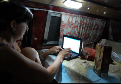 travel blogging from a VW bus