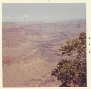 Dream Travel Bucket List and the Grand Canyon: The South Rim Grand Canyon in 1969