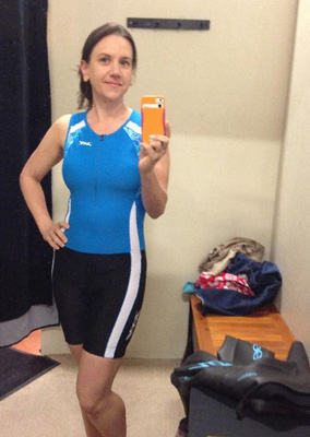 Heather in her tri-suit