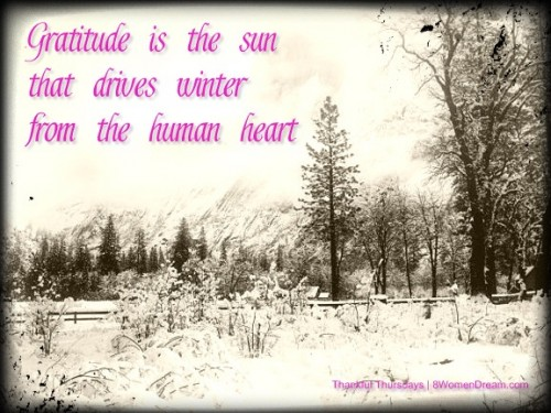 What I Know for Sure About Gratitude  - Gratitude is the sun that drives winter from the heart quote