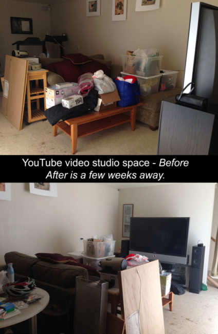 YouTube video studio in your house - before