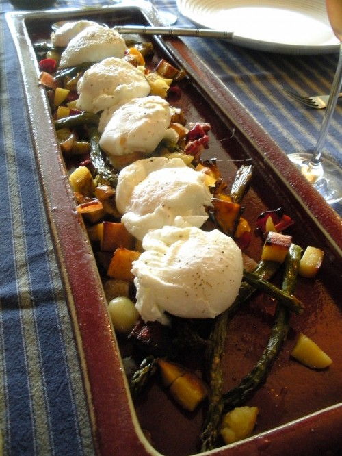 A Father's Day Love Story: Father's day favorite smoked salmon, roasted vegetable hash with poached eggs:)
