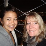 Dreamer Kim in New York with her daughter