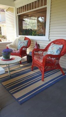 Living the Dream: Porch Makeover on a Budget - The porch after