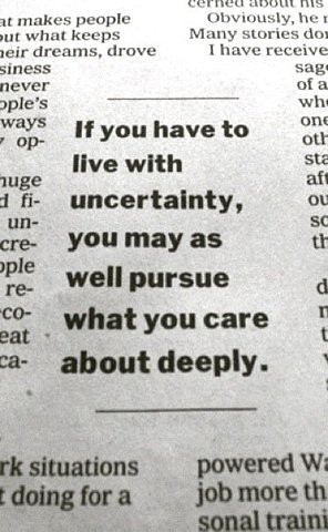 Why Uncertainty is OK