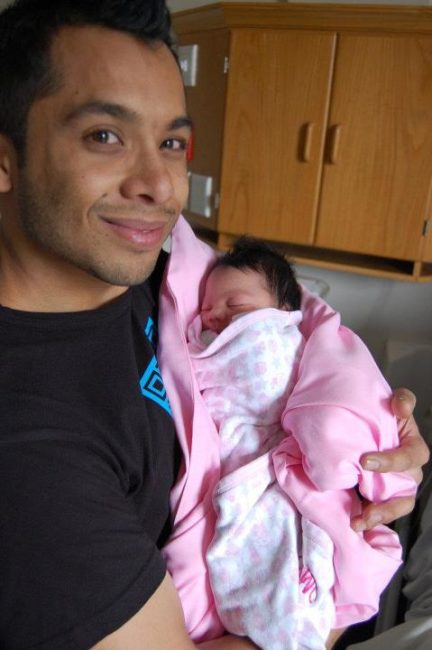 One Man's Dream of Fatherhood: Aslam with Baby Aliya, a few hours after she was born