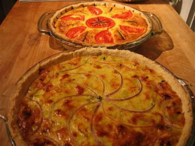 Asparagus Leek and Gruyere Quiche Recipe for Mother's Day