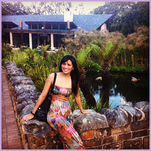 Dreamers Share World Heritage Sites in South Africa: Sue Faith Levy in front of the restaurant