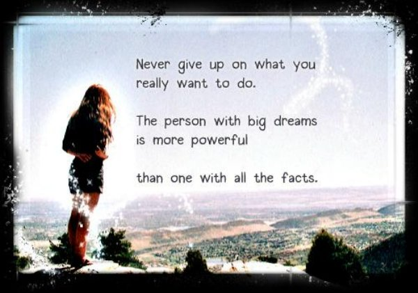 Inspirational Picture Quotes: The Person With Big Dreams