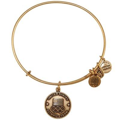 Dream Like an Olympian: Alex & Ani USA Olympics Gold Tone Expandable Charm Bracelet