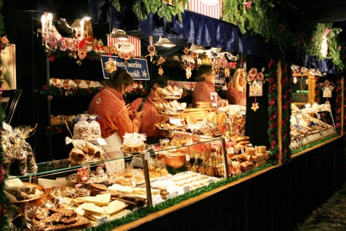 Holiday Travel Dreams: Top 8 Christmas Markets in Europe - Basel Christmas market booth, Switzerland