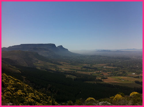 Cape Town South Africa: A Dreamers View looking down on Cape Town