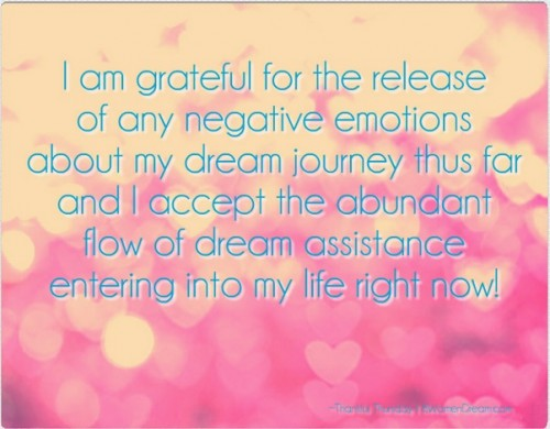 16 Best Gratitude Quotes and Affirmations for Your Dream Journey - Thankful for the release of negative emotions