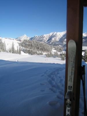 Ski in Big Sky, Montana: View from cabin