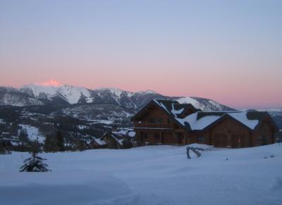 Ski in Big Sky, Montana: Never-ending big sky sunset