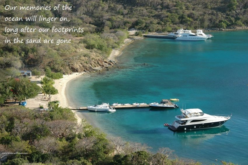 Is Your Dream to Travel by Yacht like Beyonce? British Virgin Islands bay by boat