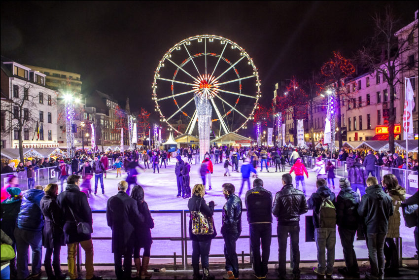 European winter travel dreams in Belgium