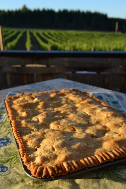 Painting My Dream Kitchen Happy: Bryan's apple pie cooling on back deck