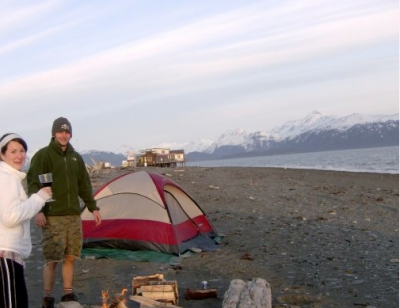 Monday off: Camping in Homer Alaska