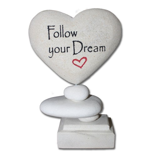 Cyber Monday Gift Ideas for Dreamers: Inspirational Plaque - Zen Love Stone - Follow Your Dream