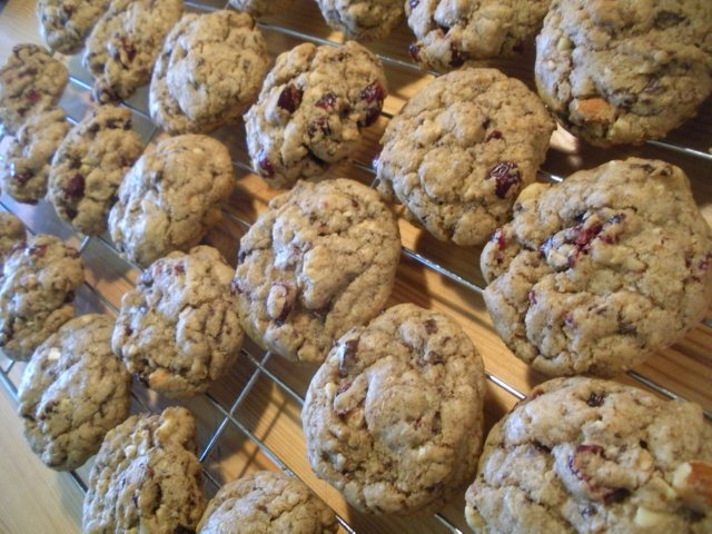 American Dream Recipes: Dark Chocolate Cherry Almond Cookies recipe by Shellie Croft