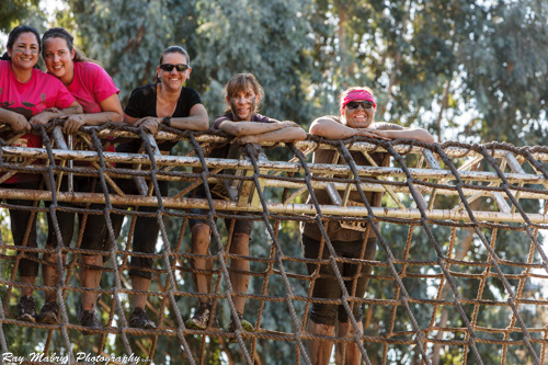 The cargo net climb at Dirty Girl 2012
