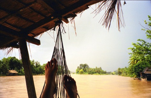 8 Essential Items to Pack: Except when you don't need shoes - hammock time in Laos!