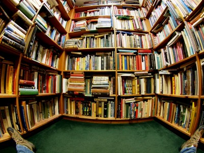 Wordless Wednesday: Fisheye Lens Inspiration in the bookstore