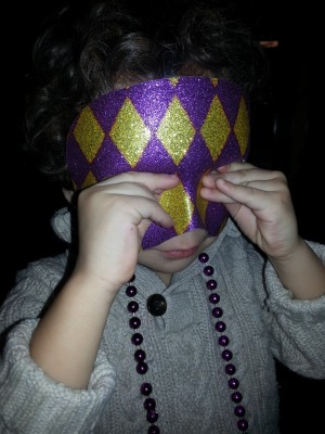 Finding Happiness in The Joy of Children - My little masked man!