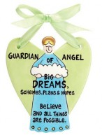 Gift Ideas for Dreamers: The Guardian Angel of Big Dreams Wall Hanging