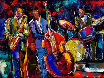 Finding Happiness By Making A House A Home: Jazz art for my wall