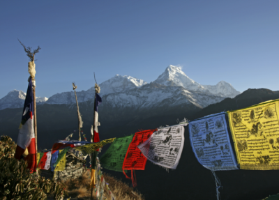 Finding Happiness on the Spiritual Path - Prayer flags