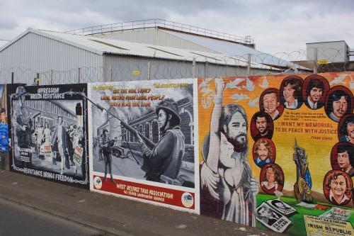 International mural wall in Belfast, Northern Ireland