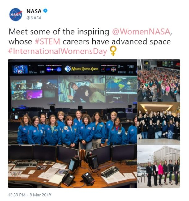 International Women's Day Tweets for Women Dreamers: NASA