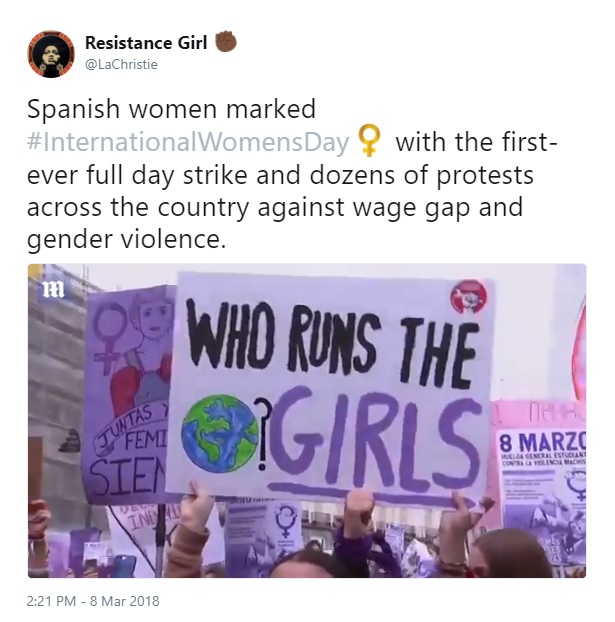International Women's Day Tweets for Women Dreamers: LaChristie