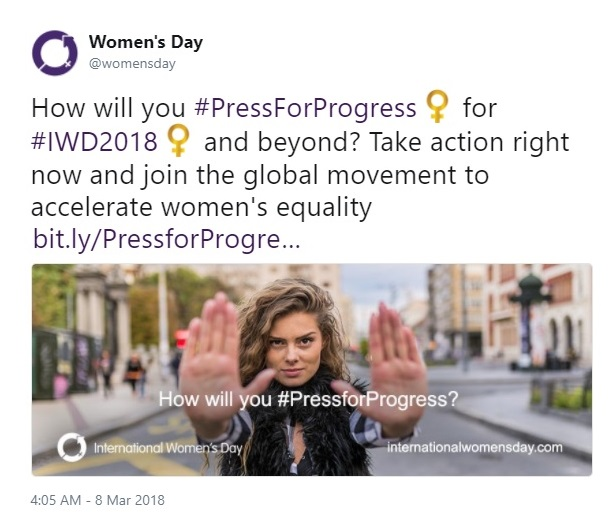 International Women's Day Tweets for Women Dreamers: Womensday