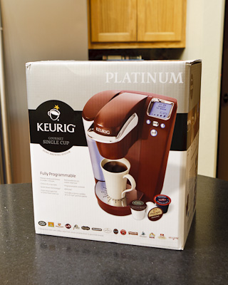 Keurig coffee platinum system box