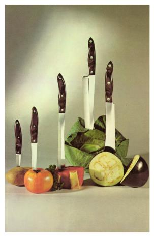 Feeling Stuck With Your Dream?  Try This. Knives stuck in vegetables
