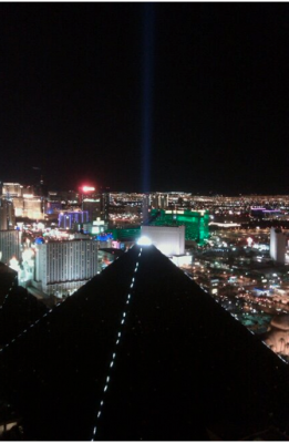 Dinner with a view of Las Vegas