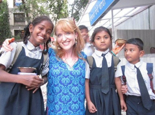 Live Your Dreams: Me with the children of India