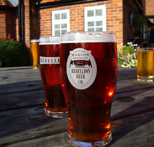 Marlow ale at the Stag & Huntsman