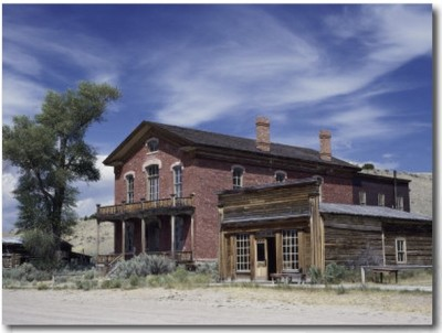 Meade Hotel and Skinner's Saloon, Bannack Ghost Town, Montana, USA Buy at Art.com