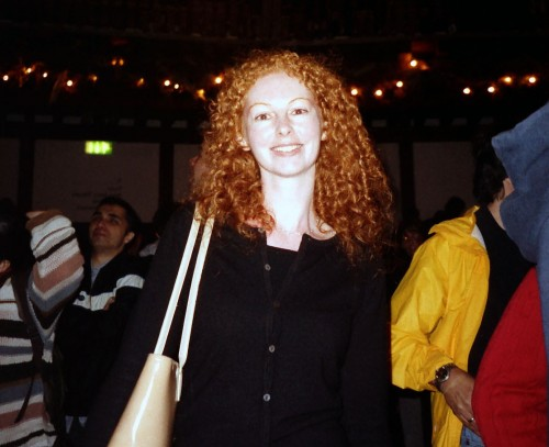 For People Who Want to Live the World Travel Dream But Can't Get Started: A young Natasha von Geldern at the Globe Theatre in London