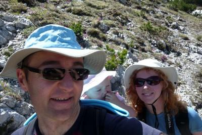 The von Geldern family hiking in Slovenia