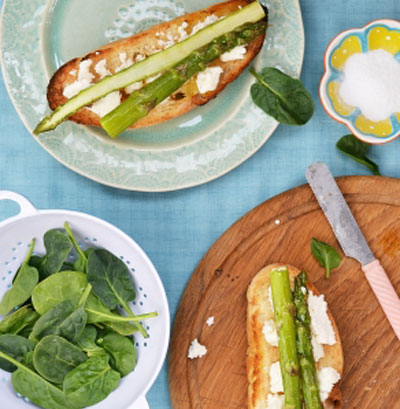 Remedial Entertaining appetizers from asparagus